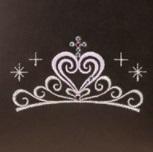 ティアラの刺繍