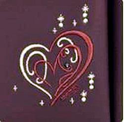 シェリーハート の大マチのハートの刺繍