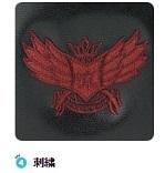 翼モチーフの刺繍